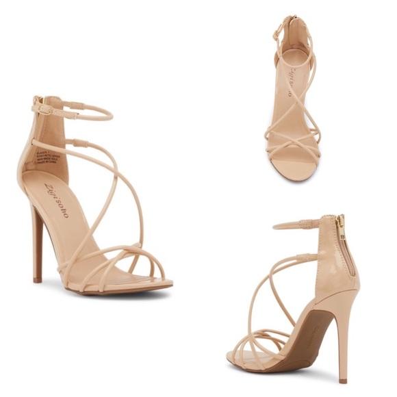 7ac2b4cfc725 Nude Blaker Ankle Strap Heel by Zigi Soho